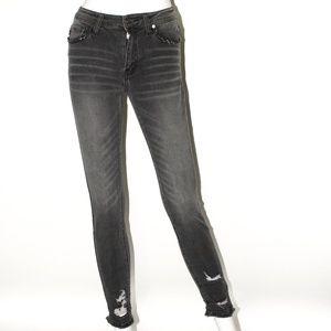 Denim Skinny Jeans Distressed